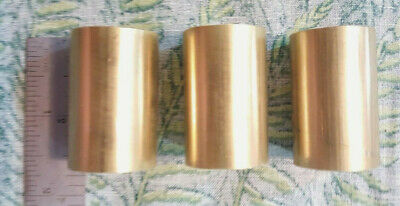 """1"""" C360 BRASS SOLID ROUND ROD 1 1/2"""" long (3 PIECES) 1"""" OD New Lathe Bar Stock"""