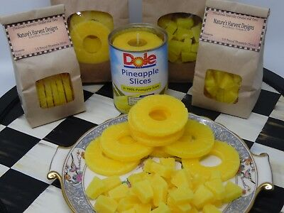 1 lb PINEAPPLE SLICE EMBEDS WAX CANDLE MAKING SUPPLIES TART WARMER MELTS decor
