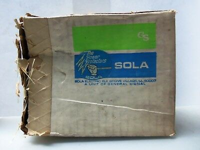 New Sola Electric 85-05-210 Power Supply IN:115 Vac Out: 5VDC 1000mA NIB
