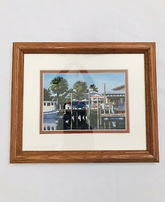 "Robert Johnson ~ Starfish Restaurant 5"" x 7"" Framed Print ~ Anna Maria Florida"
