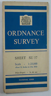 1960 old OS Ordnance Survey 1:25000 First Series prov map SU 57 Hermitage