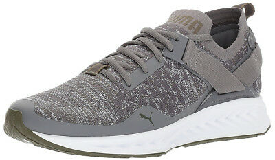 PUMA MEN'S IGNITE Evoknit Lo Grey Heather Sneakers 8M