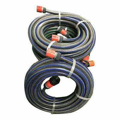 """Garden Water Hose 12MM - 1/2"""" Clearance Sale 4 x 15M Lengths Fittings Joiners"""