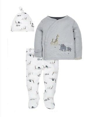 Gerber Baby Boy Take Me Home Outfit Set Size 3-6 Month Gray
