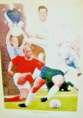 503 - Sir Bobby Charlton Man United & England Legend signed Ltd Edition print