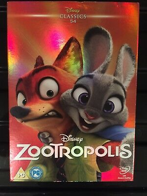 Zootropolis DVD Disney + Collectable Sleeve - New and Sealed Fast Free Delivery