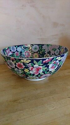 "A Stunning Large Vintage Chinese Bowl ""Made In China Hand Painted with Flowers"