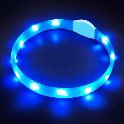 LED Dog Safety Collar Udapted Flashing LED Dog Collar Rechargeable Light Up Pet