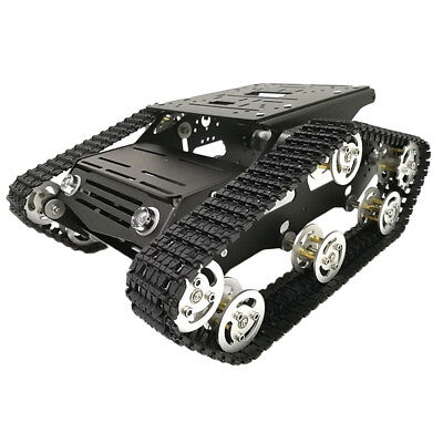 7-12 V Robot Smart Tank Chassis DIY Kit with Code Wheel Light Shock Absorbed