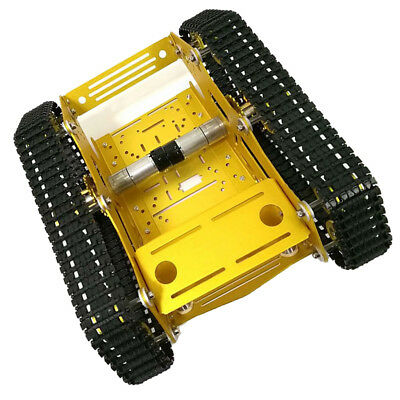 7-12V Robot Smart Tank Chassis DIY Kit with Code Wheel Light Shock Absorbed