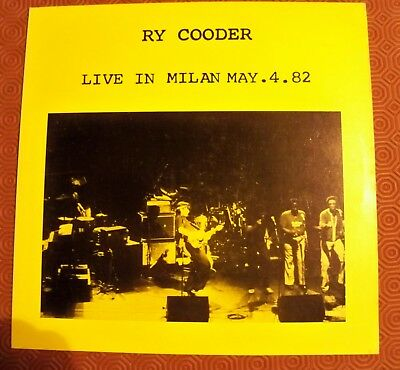 """Ry Cooder """"Live In Milan Italy May 4, 1982"""" Lp Concert Rolling Stone Historical"""