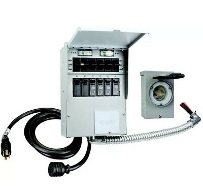 Reliance 306LRK Back-Up Power Transfer Switch Kit - Complete Pre-Wired 6 Circuit