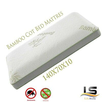 Baby Cot Bed Breathable Mattress Bamboo Cover Foam Mattress 140 X 70 X 10 CM