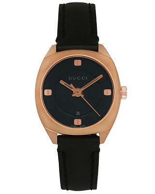 7a774c7c15d Gucci GG2570 Pink Gold Plated Stainless Steel Quartz Ladies Watch YA142509