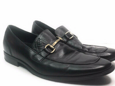 4baa1e3a7ce Cole Haan Loafers Mens 11 M Black Leather Horse Bit NikeAir Sole Dress Shoes