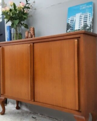 TEAK Low Bookcase Display Cabinet Danish Style Mid Century DELIVERY