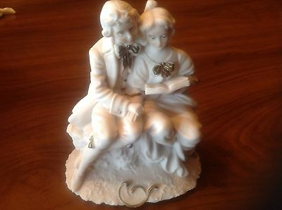 Vintage Italian Ceramic Porcelain couple figurine by Miriam made in Italy