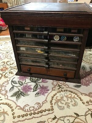 Antique 7 Drawer Thread Sewing Spool Cabinet ca. 1900's