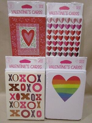 Multi pack VALENTINE'S DAY CARDS-American Greetings (8) cards per pack Cute -NEW