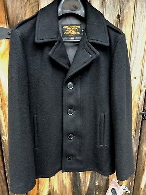 310c176dc5c NEW! SCHOTT NYC Flying Jacket 798 S Small black slim fit Wool Coat ...