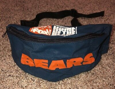 CHICAGO BEARS Fanny Pack Vintage Team NFL Fox Home Of The Bears RARE VHTF