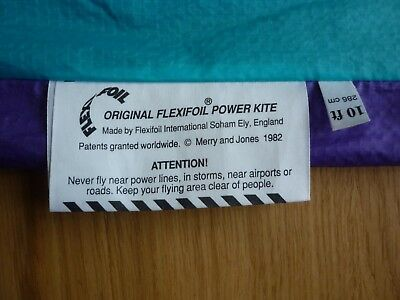 Flexifoil Super 10 Kite – Purple/Turquoise with bag and spars