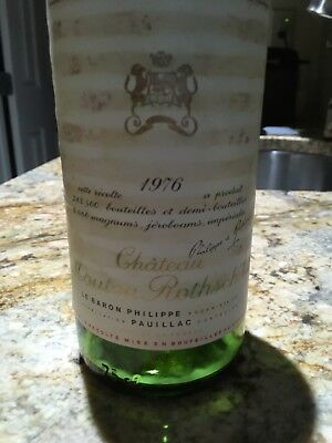 1976 Chateau Mouton Rothschild. Emty Bottle. Opened For Christmas