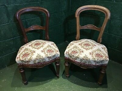 pair of french sprung seat dining chairs