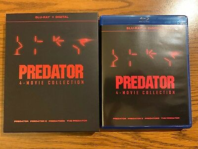 The Predator 1-4 Movie Collection (Blu-ray Disc, 2018, w/ Mini-Posters) LIKE NEW