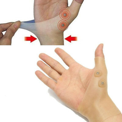 Gloves Support  Hand Silicone Gel Magnetic Therapy Wrist Relief Massage Pain 1 P
