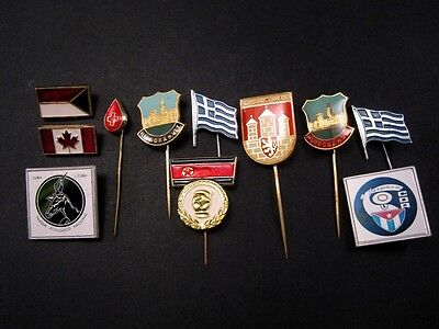 ATTRACTIVE LOT OF  11 pcs. INTERNATIONAL BADGES, BROAD VARIETY!!!