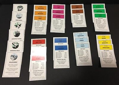 2006 Monopoly Here /& Now Board Game All 28 Title Deeds Replacement Pieces