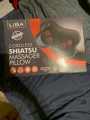 LiBa Cordless Shiatsu Neck Shoulder Back Massager with Heat - Rechargeable