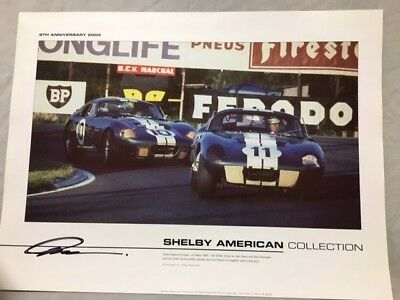 Shelby American Collection Poster -Daytona coupes autographed by Pete Brock