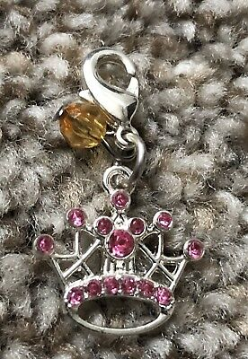 Disney Parks Charmed In The Park Princess Crown  Jeweled Icon Charm