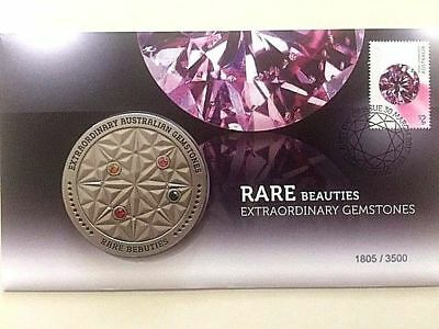 Australia 2017 - Rare Beauties Extraordinary Gemstones Medallion PNC - L/E 3500