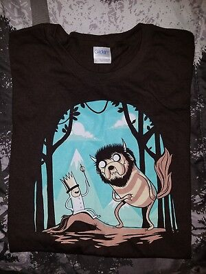 6b06cea99 TEEFURY LARGE T Shirt. Brown. This Is My Broomstick. Harry Potter ...