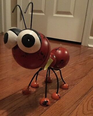 Yard Metal Sculpture Large Ant WHIMSICAL Garden Statue Decor Home Outdoor