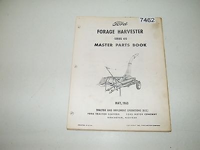 Ford Forage Harvester Series 612 Parts Catalog Book & Supplement 1963 PA-8237-A