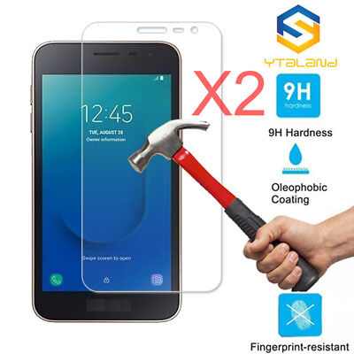2Pcs 9H Premium Tempered Glass Film Screen Protector For Samsung Galaxy J2 Core