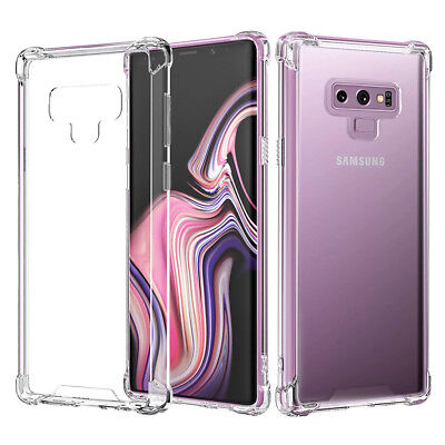 Shockproof Transparent TPU Bumper Hard Case Cover For Samsung Galaxy Note 9 S9+