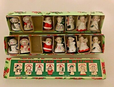 Vintage 1950's A Commodore Original 14 Piece Christmas Card Place Settings
