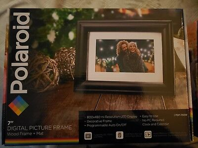 "**NEW** Polaroid 7"" Digital Picture Frame - PDF-750W"