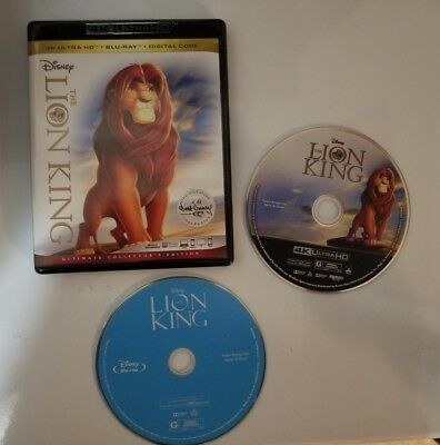 Disney's The Lion King Signature Collection. 4K. Blu Ray. Ultimate Collector's