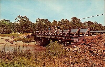 Ga~Georgia~Jekyll Island~Fishing From Clam Creek Bridge~Chrome~Pc9867
