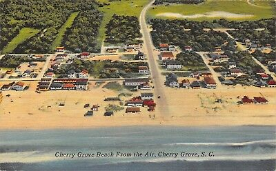 Sc~South Carolina~Cherry Grove Beach~From The Air~Linen~Pc9510