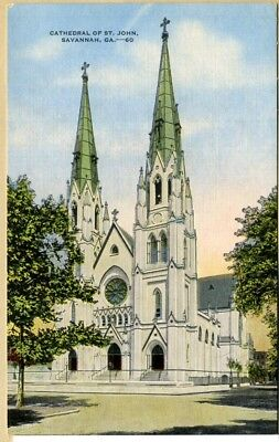 Ga~Georgia~Savannah~Cathedral Of St. John~Linen~Pc2904