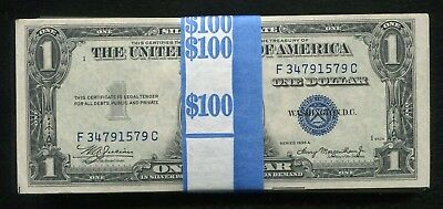 (100) 1935 $1 One Dollar Blue Seal Silver Certificates Uncirculated