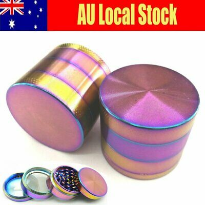 Mini Colorful Smoke Grinder Alloy Herb Tobacco Grinders Hand Crank Herbal 40MM