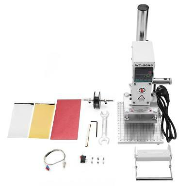 Hot Foil Stamping Leather Embossing Machine Manual Paper PU Press Bronzing